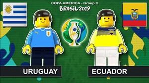 شبیه سازی بازی اروگوئه - اکوادور با لگو