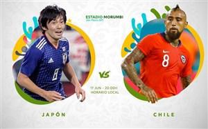 خلاصه بازی شیلی 4 - ژاپن 0 (کوپا آمریکا)
