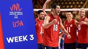 تیم برتر هفته سوم لیگ ملتهای والیبال (امریکا)