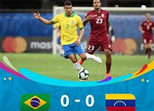 خلاصه بازی برزیل 0 - ونزوئلا 0 (کوپا آمریکا)