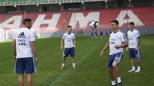 تمرین امروز تیم ملی آرژانتین (29-03-98)