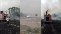 آتش سوزی در مجموعه سوارکاری گنبدکاووس