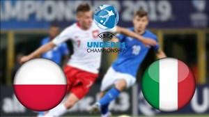 خلاصه بازی ایتالیا 0 - لهستان 1 (یورو زیر 21 سال)