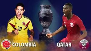 خلاصه بازی کلمبیا 1 - قطر 0 (کوپا آمریکا)