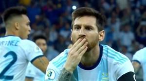 گل اول آرژانتین به پاراگوئه (مسی-پنالتی)
