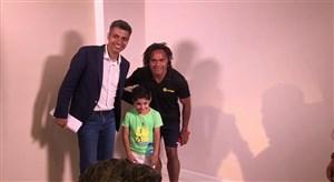 پشت صحنه مصاحبه عادل با کریستین کارمبئو بازیکن سابق رئال