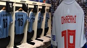 رختکن و ورود دوتیم اروگوئه و ژاپن به استادیوم