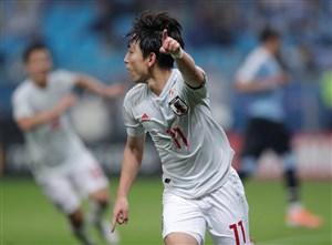 گل اول ژاپن به اروگوئه توسط میوشی