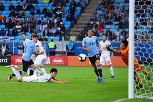 گل دوم اروگوئه به ژاپن توسط خیمنز