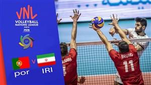 خلاصه والیبال ایران 3 - پرتغال 1(لیگ ملتهای والیبال)