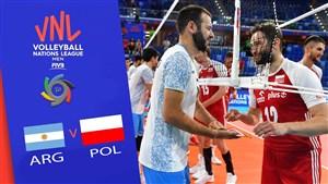 خلاصه والیبال لهستان 3 - آرژانتین 2 (لیگ ملتهای والیبال)