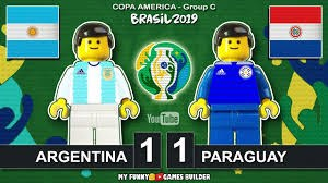 شبیه سازی بازی آرژانتین - پاراگوئه با عروسک لگو