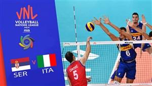 خلاصه والیبال ایتالیا 3 - صربستان 0(لیگ ملتهای والیبال)