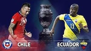 خلاصه بازی اکوادور 1 - شیلی 2 (کوپا آمریکا)