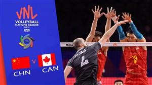 خلاصه والیبال کانادا 3 - چین 1 (لیگ ملتهای والیبال)