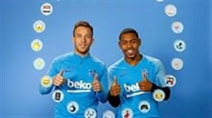 چالش اموجی بازیکنان بارسلونا با آرتور و مالکوم