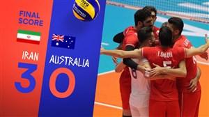 خلاصهوالیبالایران 3 - استرالیا 0 (لیگملتهایوالیبال)