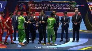 اهدای مدال نقره به تیم فوتسال زیر 20 سال افغانستان