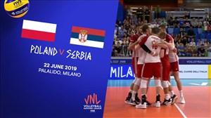 خلاصه والیبال لهستان 3 - صربستان 2 (لیگ ملتهای والیبال)