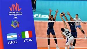 خلاصه والیبال ایتالیا 1 - آرژانتین 3(لیگ ملتهای والیبال)