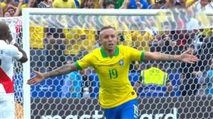 گل سوم برزیل به پرو (اورتون)