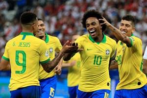 صعود برزیل به جمع چهار تیم برتر کوپا آمریکا