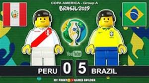 شبیه سازی دیدار برزیل - پرو با لگو