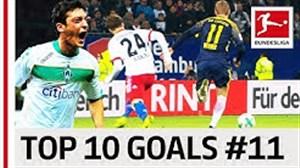 برترین گلهای بازیکنان شماره 11 در بوندسلیگا