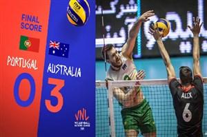 خلاصه والیبال پرتغال 0 - استرالیا 3 (لیگ ملتهای والیبال)