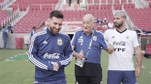 تمرین تیم آرژانتین برای دیدار با قطر