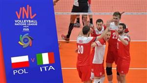 خلاصه والیبال ایتالیا 2 - لهستان 3(لیگ ملتهای والیبال)