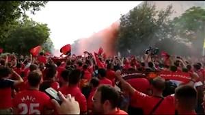 جشن و خوشحالی هواداران مایورکا بعد از صعود به لالیگا