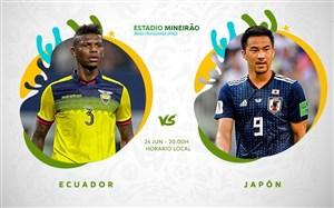 خلاصه بازی اکوادور 1 - ژاپن 1(کوپا امریکا)