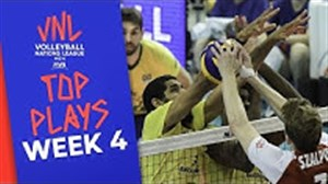 برترین حرکت های هفته چهارم لیگ ملت های والیبال
