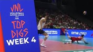 برترین دفاع های هفته چهارم لیگ ملت های والیبال