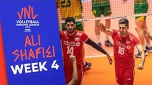 عملکرد علی شفیعی در هفته چهارم لیگ ملتهای والیبال