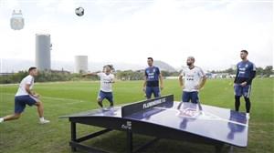 فوتبال تنیس بازیکنان آرژانتین در حاشیه تمرینات (05-04-98)