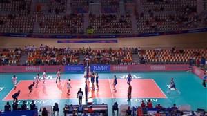 رالی های تماشایی ست اول والیبال ایران - صربستان