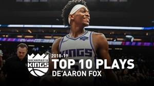 10 حرکت برتر آرون فاکس در فصل 19-2018 بسکتبال NBA