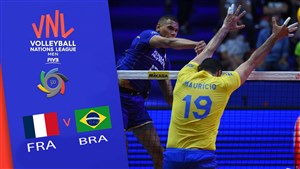 خلاصه والیبال برزیل 3 - فرانسه 1 (لیگ ملت های والیبال)