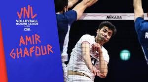 امیر غفور؛برترین بازیکن دیدار والیبال ایران - صربستان