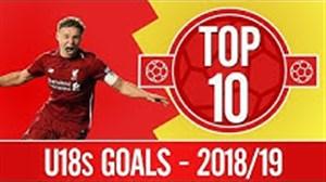 برترین گلهای آکادمی زیر 18 سال لیورپول در فصل 19-2018