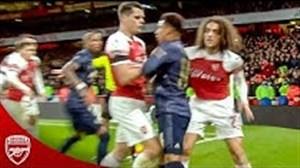 خشونت ها و درگیری های بازیکنان آرسنال در فصل 19-2018