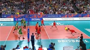 مگا رالی دیدنی در ست دوم والیبال استرالیا - چین