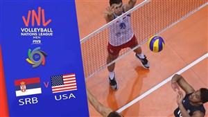 خلاصه والیبال آمریکا 3 - صربستان 1 (لیگ ملت های والیبال)
