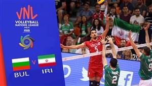 خلاصه والیبال ایران 3 - بلغارستان 0 (لیگ ملتهای والیبال)