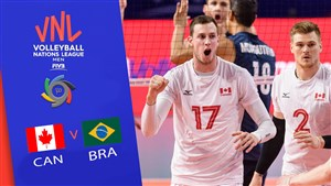 خلاصه والیبال برزیل 3 - کانادا 0 (لیگ ملت های والیبال)