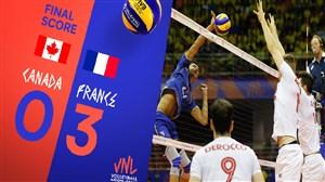 خلاصه والیبال کانادا 0 - فرانسه 3 (لیگ ملت های والیبال)