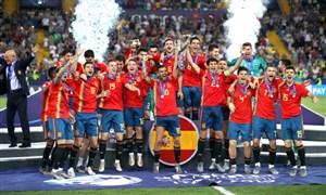 مراسم اهدای جام قهرمانی یورو 2019 (زیر 21 سال)