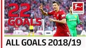 تمام گلهای رابرت لواندوفسکی در فصل 19-2018
